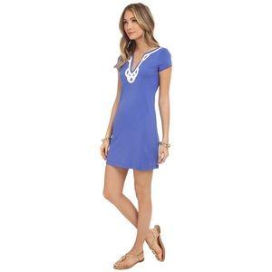 Lilly Pulitzer Brewster T Shirt Bib Blue Dress